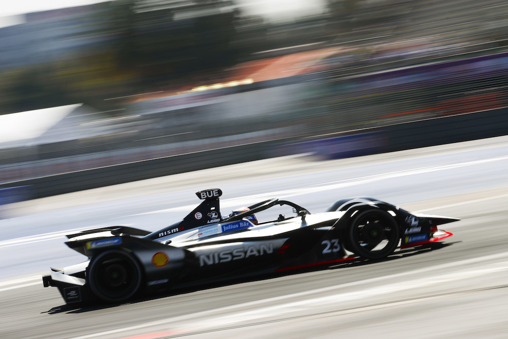 AUTODROMO HERMANOS RODRIGUEZ, MEXICO - FEBRUARY 16: Sébastien Buemi (CHE), Nissan e.Dams, Nissan IMO1 during the Mexico City E-prix at Autodromo Hermanos Rodriguez on February 16, 2019 in Autodromo Hermanos Rodriguez, Mexico. (Photo by Joe Portlock / LAT Images)