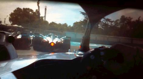 サンティアゴE-Prixのドライバーズアイ